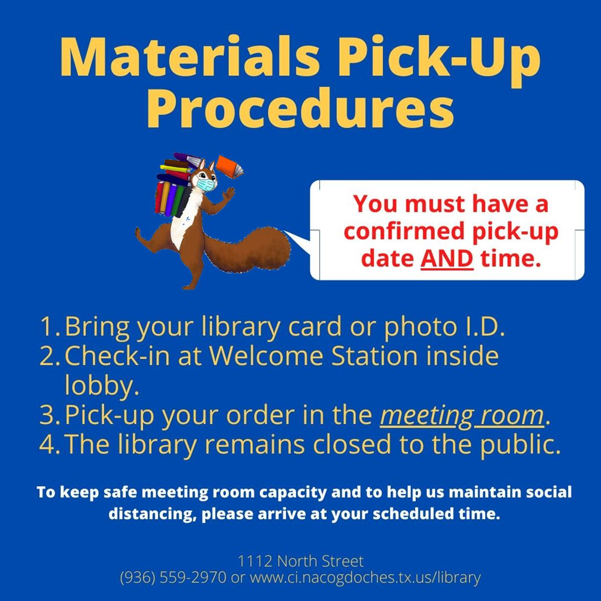Pick up Procedures