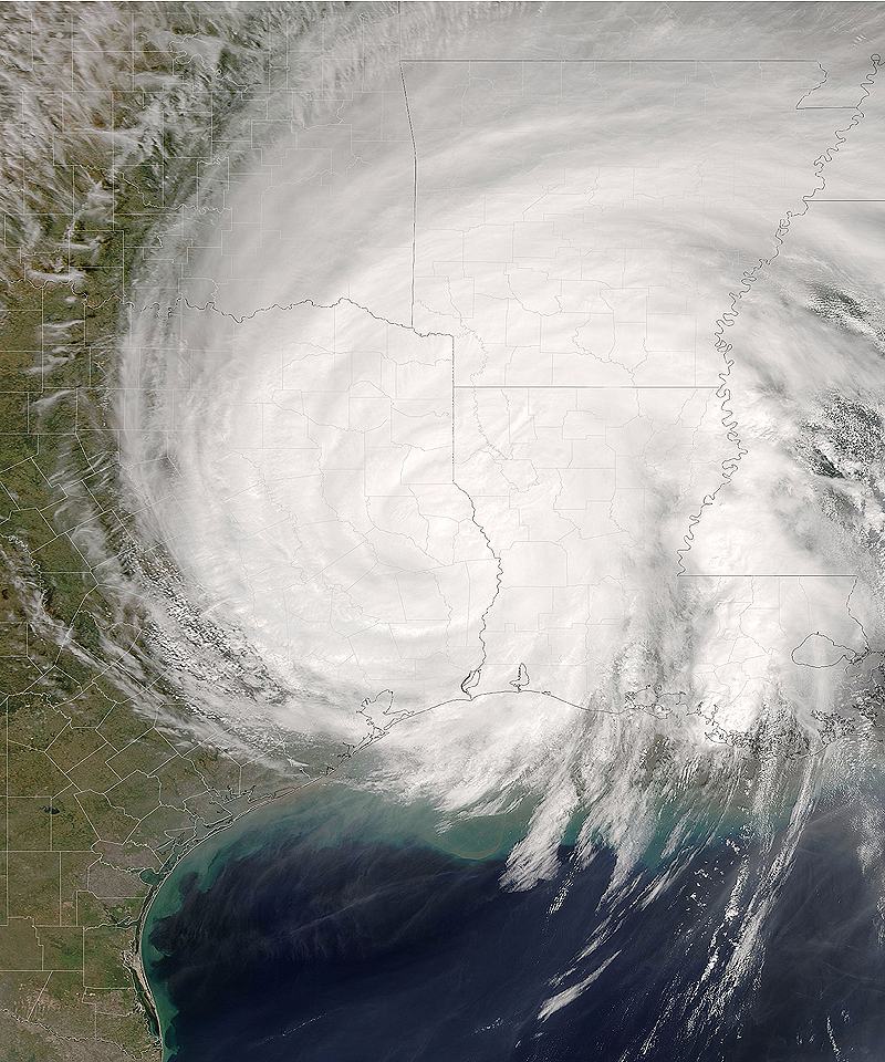 Hurricane Rita over East Texas - August 24, 2005
